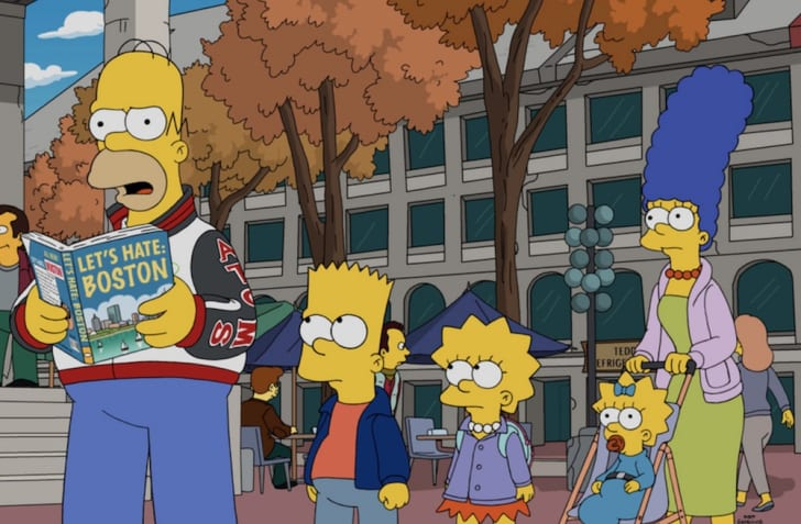 The Simpsons in 'The Town'