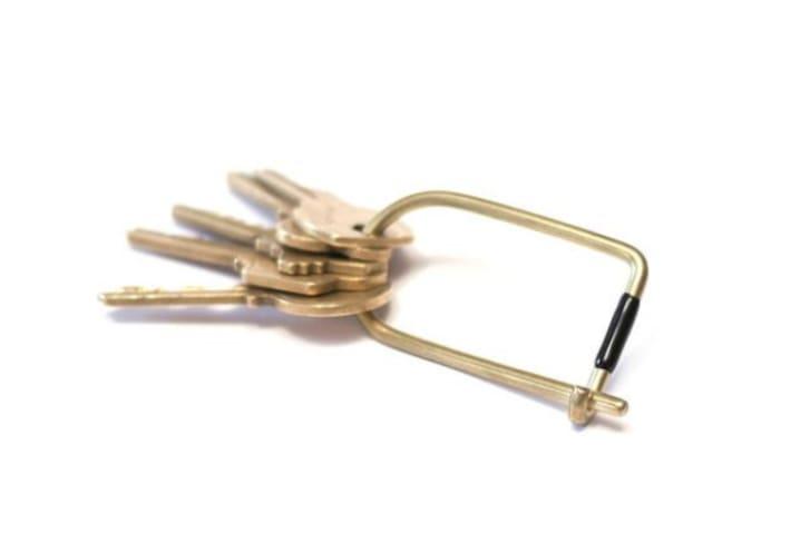Brass Wilson Key Ring