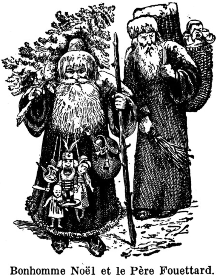 St. Nicholas and Pere Fouettard