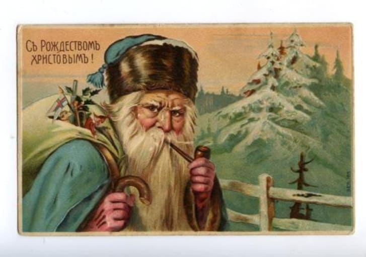 Postcard of Ded Moroz.