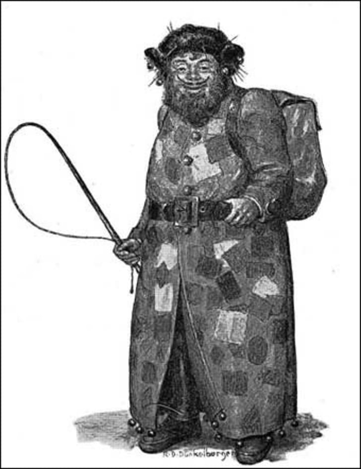 A drawing of Belsnickel.