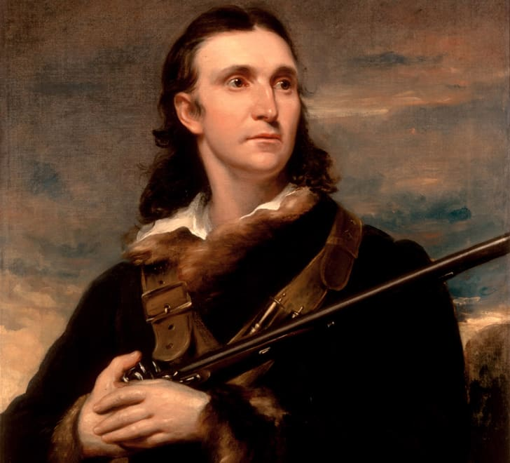 A painting of John James Audubon in 1826.