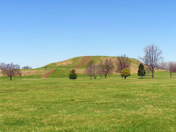 Cahokia mounds.