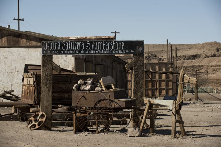 Abandoned town of Humberstone, Chile.