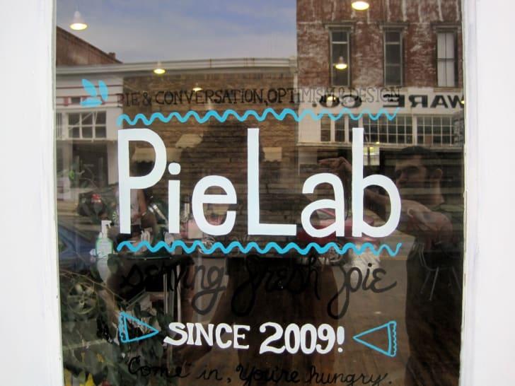 Pie Lab sign