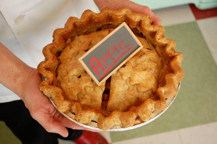 An apple pie from Hoosier Mama Pie Company.