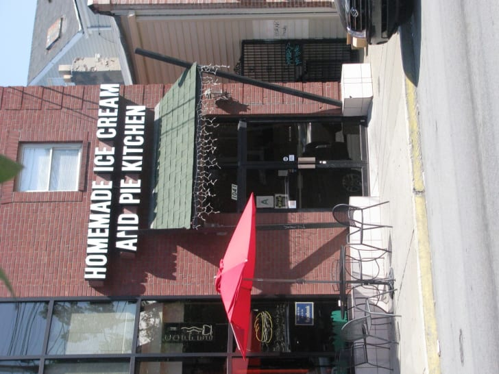 The exterior of Homemade Ice Cream and Pie Kitchen in Louisville, Kentucky.