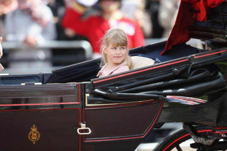 Lady Louise Windsor during the annual Trooping the Colour Ceremony at Buckingham Palace on June 15, 2013 in London, England.