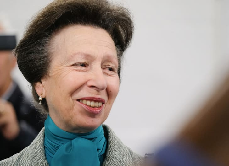 Princess Anne, Princess Royal, visits the Hambleton Equine Clinic on October 10, 2017 in Stokesley, England