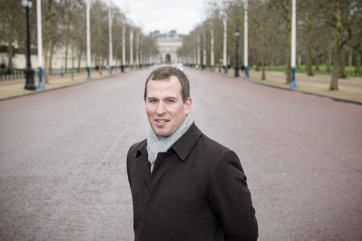 Peter Phillips poses for a photo on The Mall