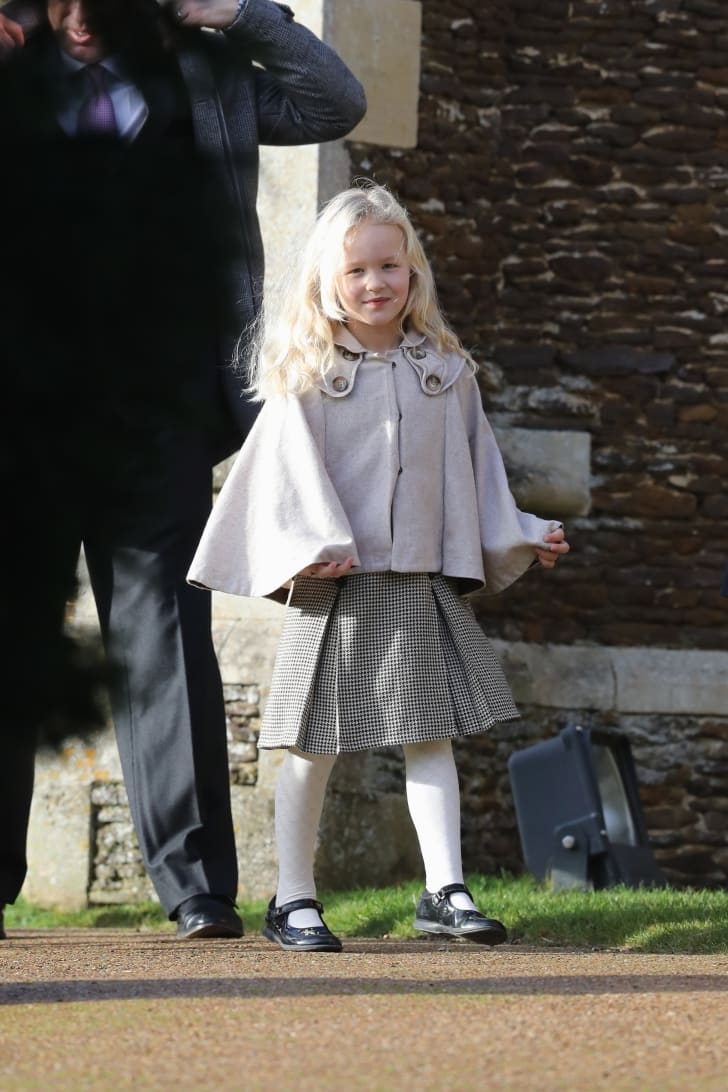 Savannah Phillips attends a Christmas Day church service