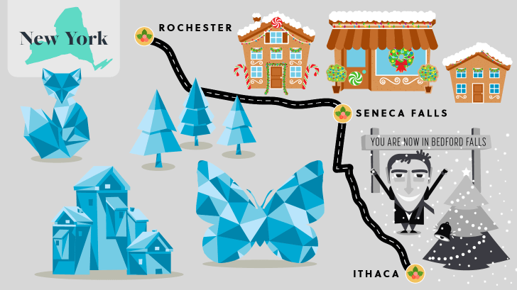 New York holiday road map.