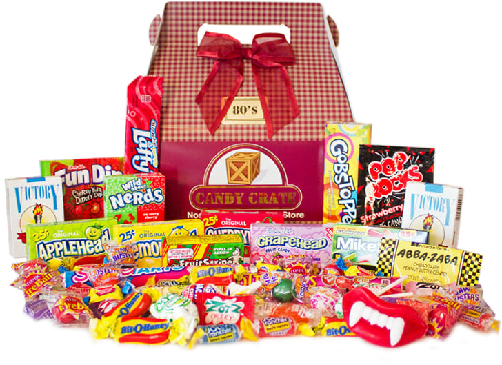 Candy Crate gift box of 1980s candy