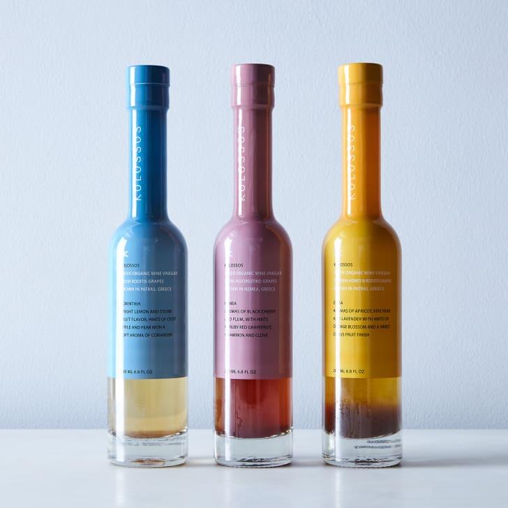 Kolossos Greek wine vinegar trio