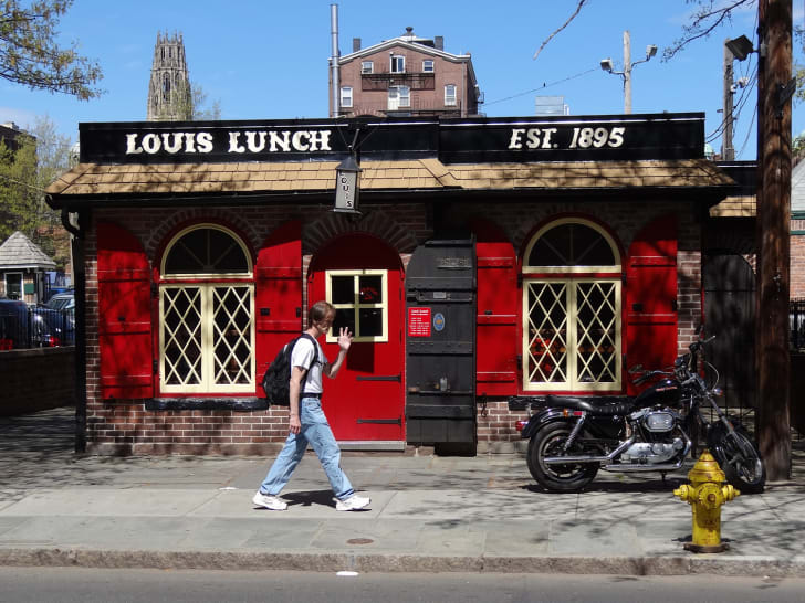 Louis' Lunch exterior in New Haven, Connecticut