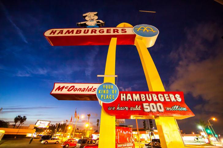 Photo of the original McDonald's location in Downey, California.