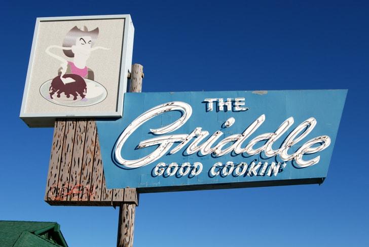 Sign for The Griddle restaurant