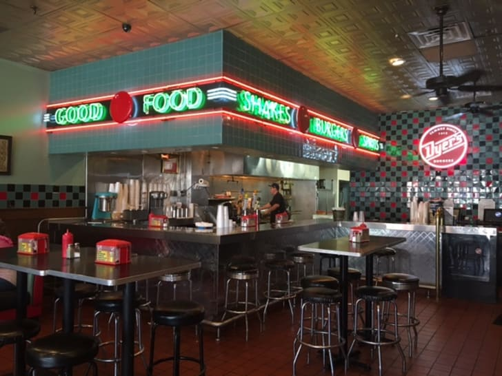 Inside of Dyer's Burgers
