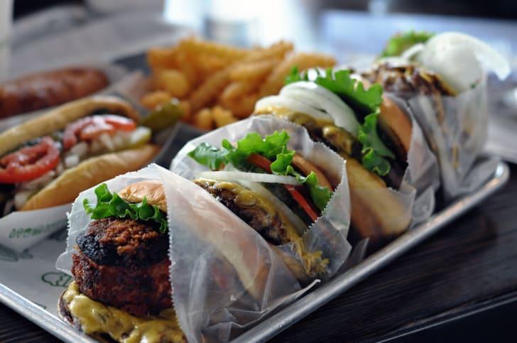 Burgers at Shake Shack in New York City