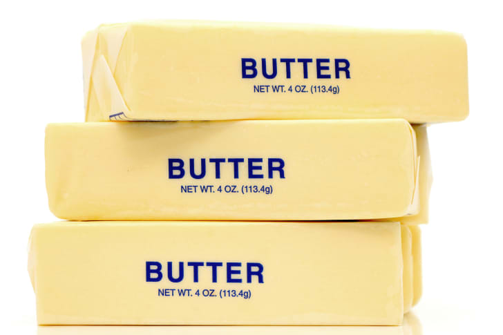 stack of butter