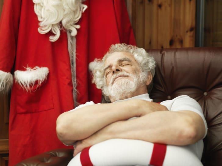 Santa Claus napping