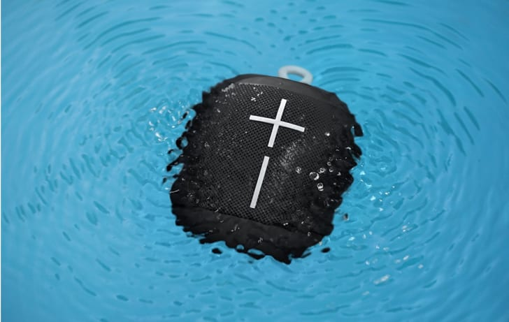 wonderboom waterproof speaker in pool
