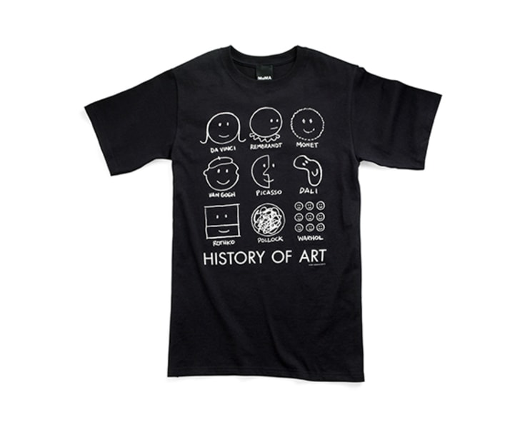 History of Art T-Shirt, sold by the MoMA Design Store