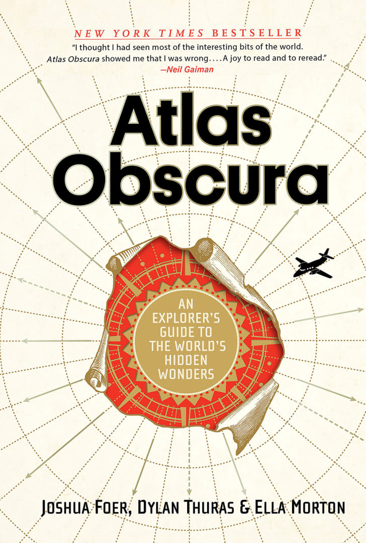 The book cover for Atlas Obscura's book