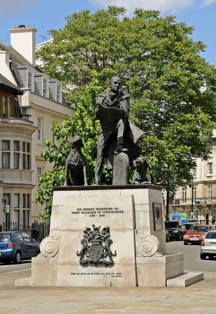 Robert Grosvenor statue in Westminster, London