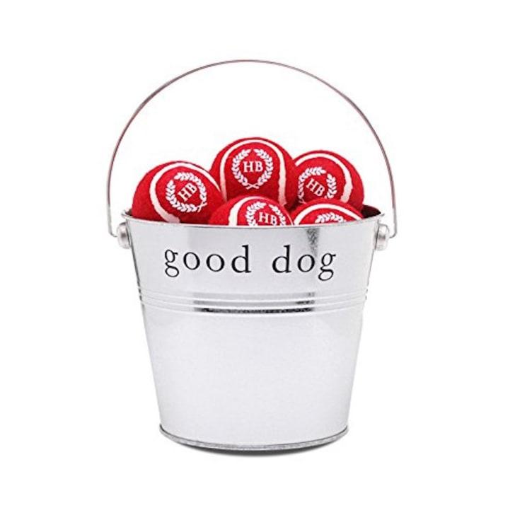 Bucket of dog balls.