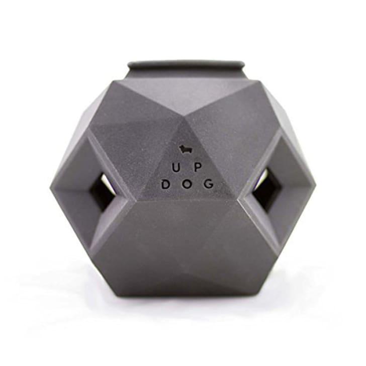 Geometric dog toy.