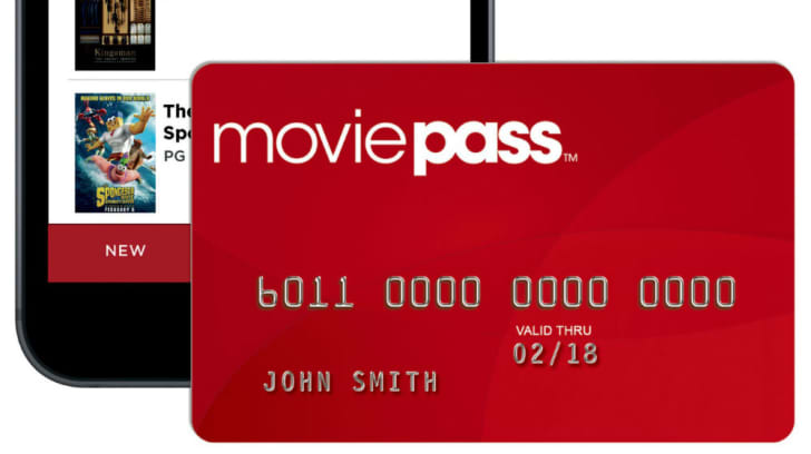 A Movie Pass membership card