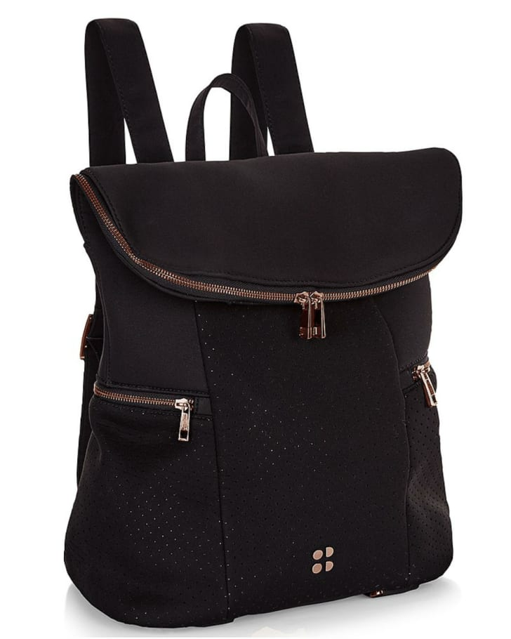 A Sweaty Betty sports backpack is pictured