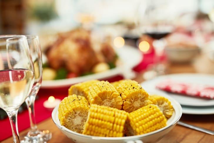Plate of corn.