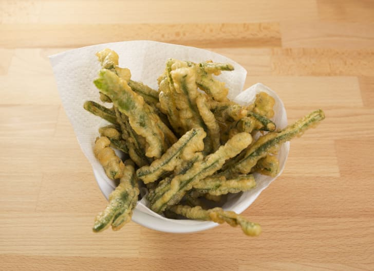 Fried green beans.