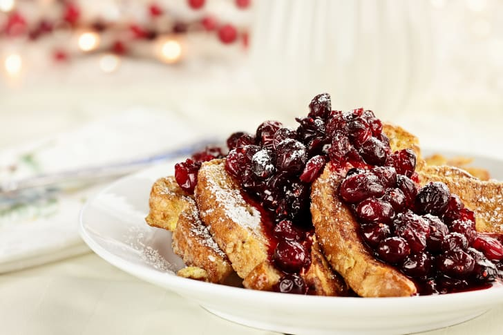 Cranberry French toast.