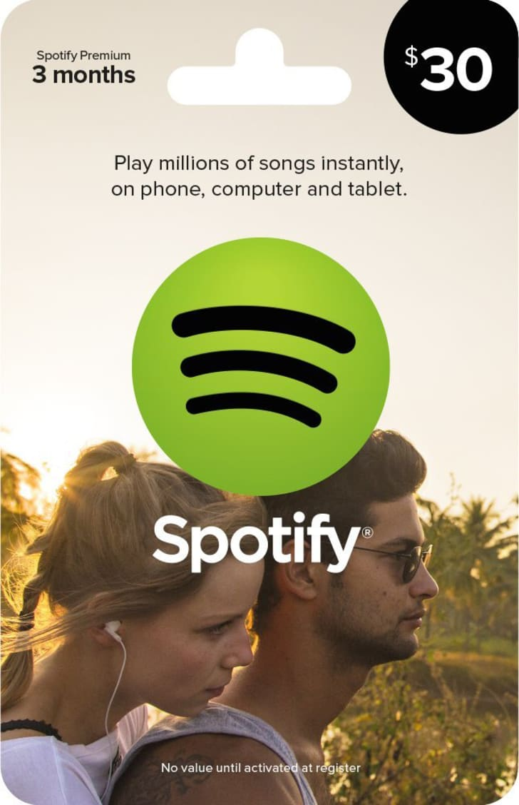 image of $30 spotify gift card