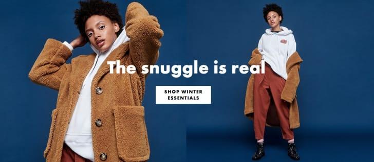 Woman modeling coat