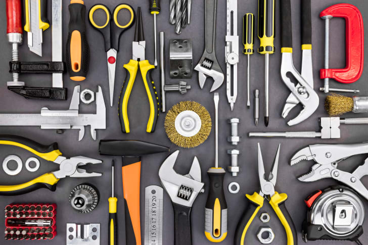 A display of tools.