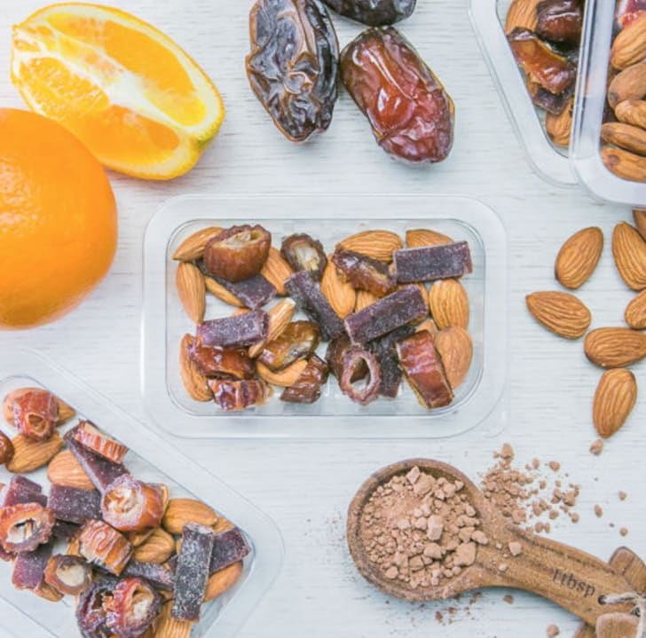 mixed snacks and their ingredients from graze