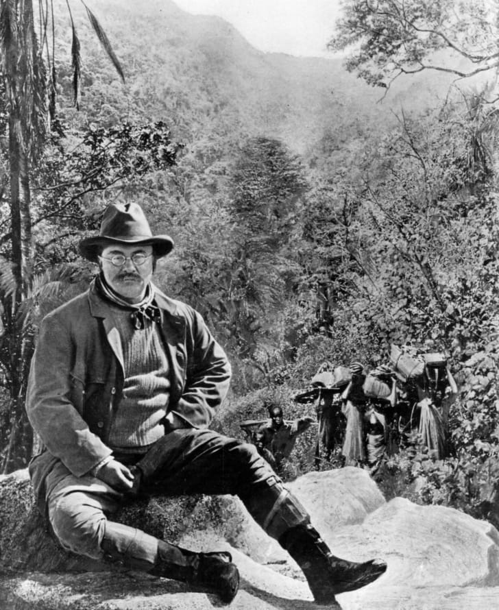 Teddy Roosevelt on a hunting trip in Africa.