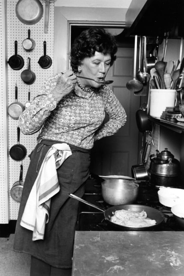 Julia Child in her kitchen in 1978
