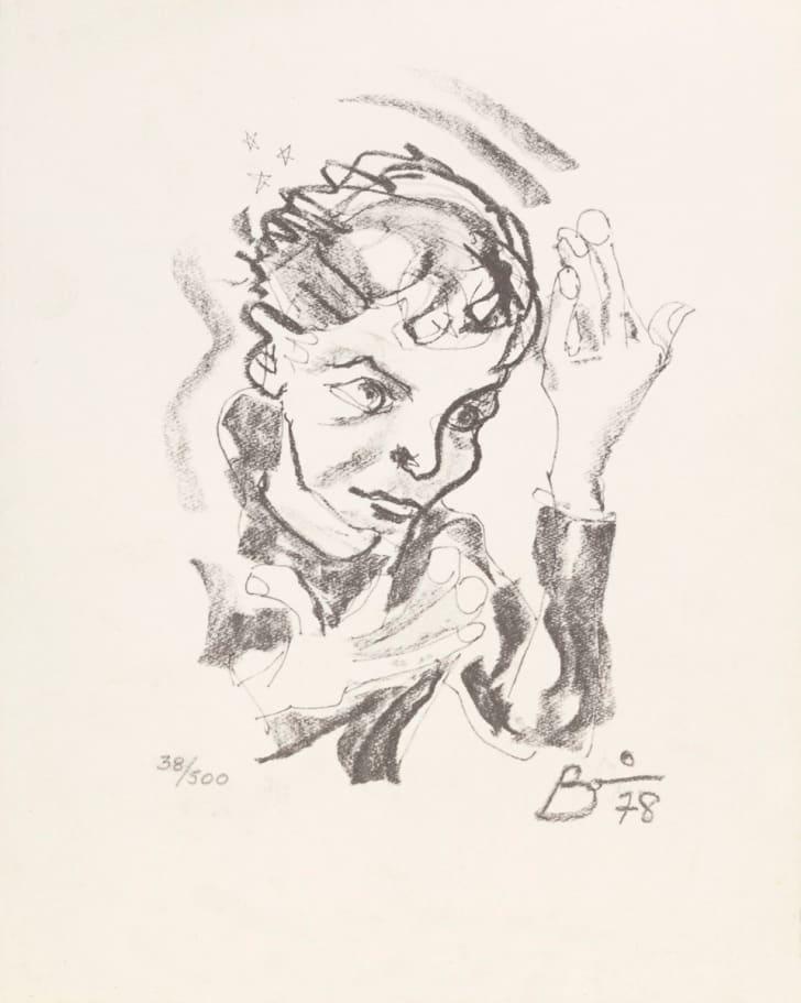 Print after a self-portrait by David Bowie, 1978