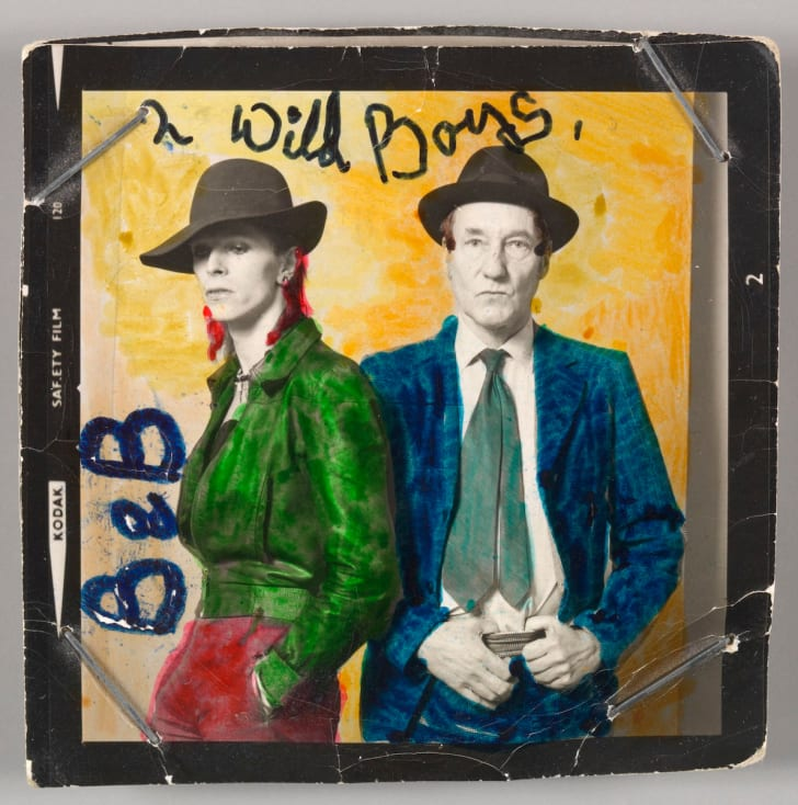 A 1974 Terry O'Neill photograph of musician David Bowie with William Burroughs.