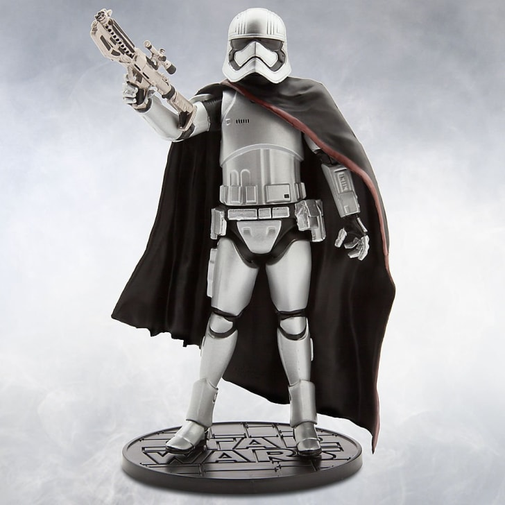 A Star Wars die cast action figure of Captain Phasma