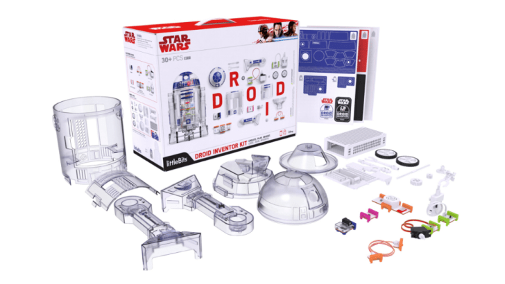 A look at the LittleBits Star Wars Droid kit parts