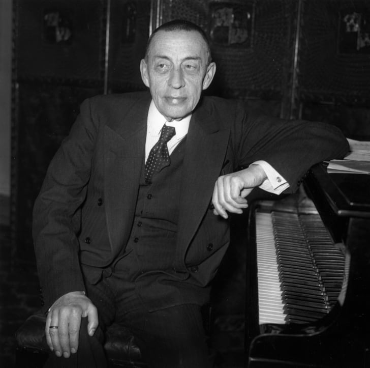 Photo of composer Sergei Rachmaninoff from 1938.
