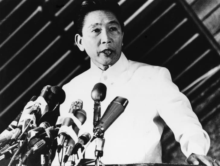 Photo of Ferdinand Marcos from 1976.