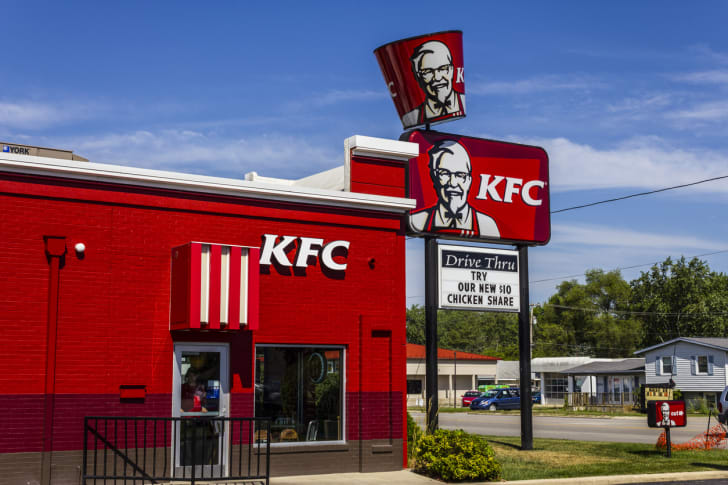 The front exterior of a Kentucky Fried Chicken restaurant