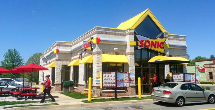 The front exterior of a Sonic restaurant